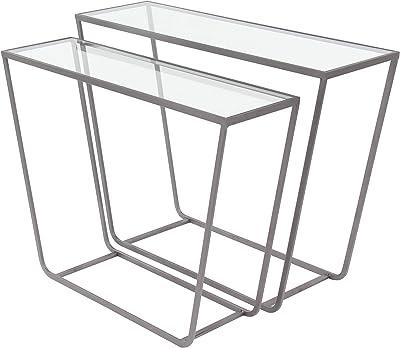 Amazon.com: Mesa de cristal ZR-pared escritorio / soporte ...