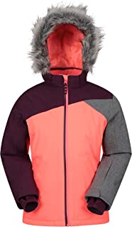 Mountain Warehouse Snowflake Kids Waterproof Ski Jacket - for Winter