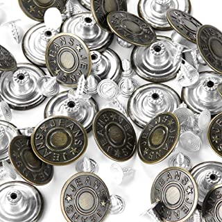 FENGWANGLI Jeans Buttons,Bronze Metal Buttons Tack Buttons Replacement Kit Studs Snap Clothes Pants Belts Sweaters (30 pcs 20mm)