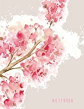 Notebook: Cherry blossom on grey cover and Dot Graph Line Sketch pages, Extra large (8.5 x 11) inches, 110 pages, White paper, Sketch, Draw and Paint (Cherry blossom on grey notebook) (Volume 4)