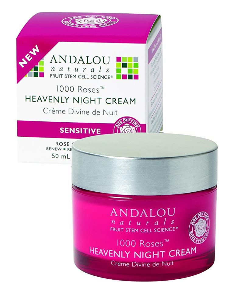Andalou Naturals Heavenly Night Cream - 1000 Roses - 1.7 Oz