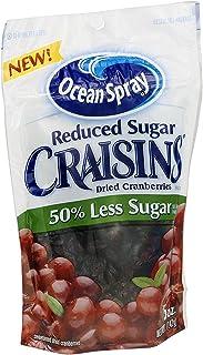 Ocean Spray Reduced Sugar Craisins 5 oz ( 4 Pack)
