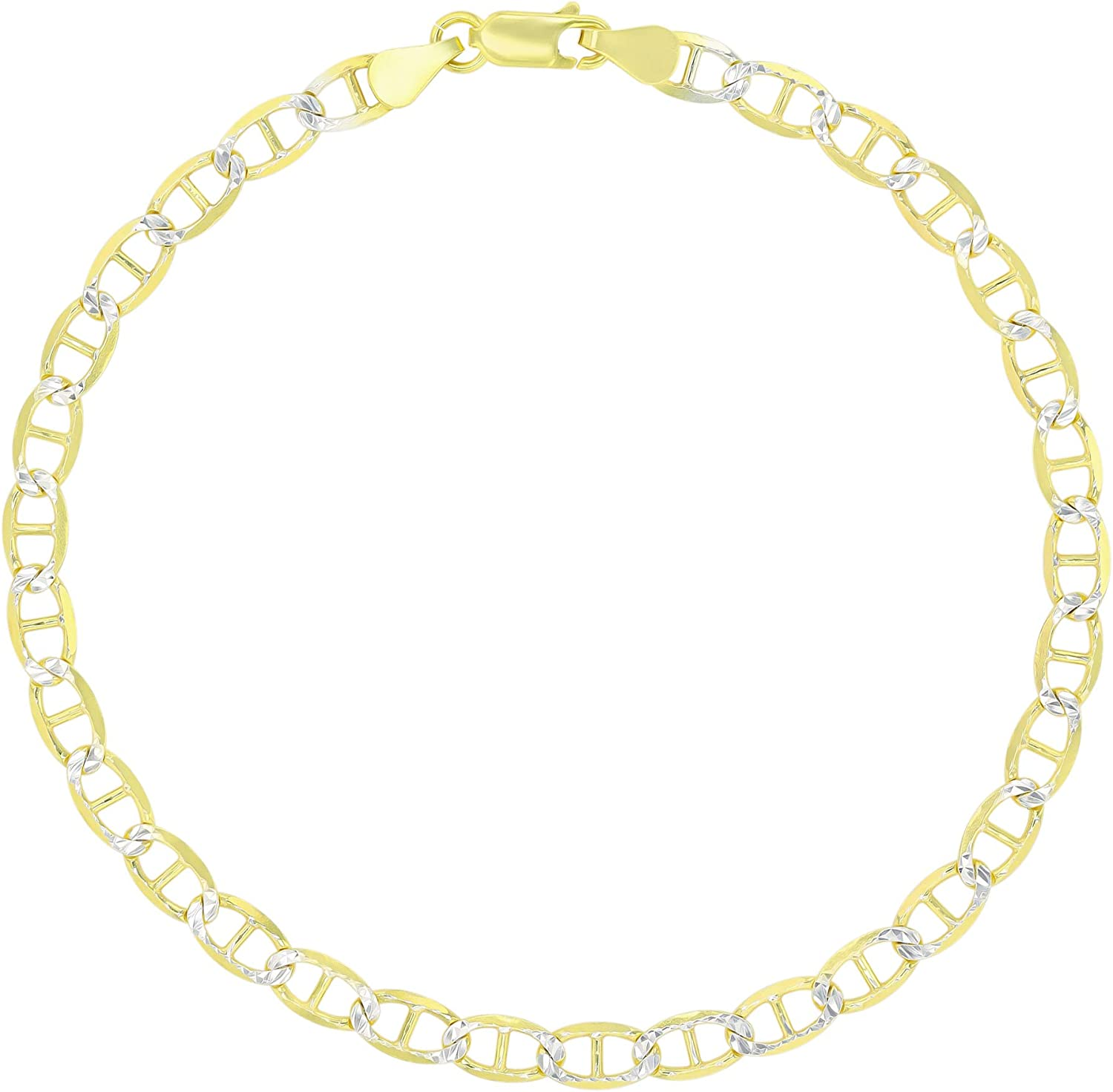 14K Gold or Rhodium Plated New product type Silver Pave Chain security Diamond Mariner Cut