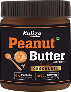 Chocolate Peanut Butter Creamy, Made with Roasted Peanuts, Cocoa Powder & Choco Chips | Non GMO | Gluten Free | Vegan - (C...