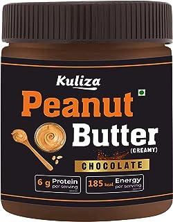 Chocolate Peanut Butter Creamy, Made with Roasted Peanuts, Cocoa Powder & Choco Chips | Non GMO | Gluten Free | Vegan - (C...