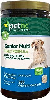 petnc NATURAL CARE, Senior Multi Daily Formula, Liver Flavor, Adult Dog, 300 Chewables