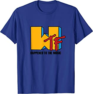 WTF happened to Music - Funny retro 80s T-Shirt