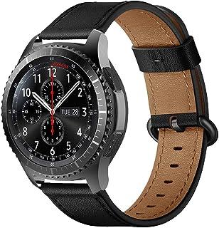 iBazal 22 mm reserv läderklockarmband för Samsung Galaxy Watch 46 mm SM-R805/800, Gear S3 Frontier/Classic SM-R760/770, Hu...