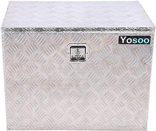 SEDOOM Almacenamiento para Remolque De Camión, Caja De Herramientas con Placa De Control De Aleación De Aluminio con Llave...