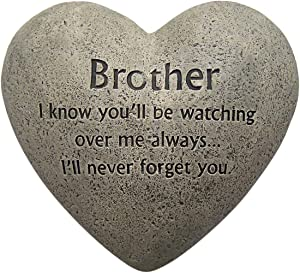 Wowser Brother Loved and Missed Everyday Cement Memorial Stone, 6 Inch