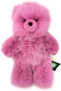 Inca Fashions - 100% Baby Alpaca Fur Teddy Bear - Hand Made - Pink Lilac - Hypoallergenic & Pillow Soft (12 Inch)