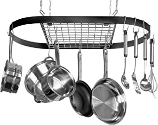 Kinetic Pot, Black with Silver Rack