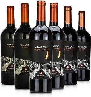 火葡园干红葡萄酒 (赤霞珠)750ml*2瓶(西拉)750ml*2瓶(美乐)750ml*2瓶
