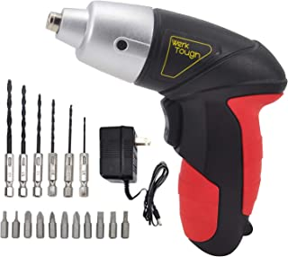 Werktough 4.8v Cordless Screwdriver with 6 Hexagon Drill and 12 Screwdriver Bits S011