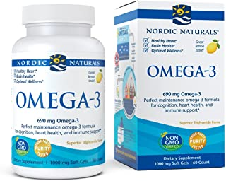 Nordic Naturals - Omega-3, Cognition, Heart Health, and Immune Support, 60 Soft Gels