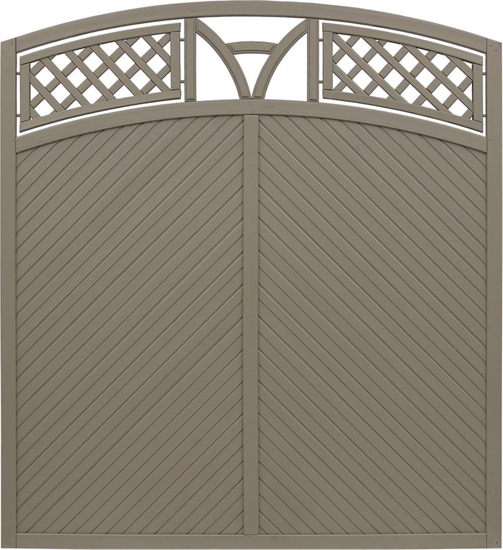 Andrewex wooden fence, garden fence, fencing panel 180 195 x 180, varnished, latte