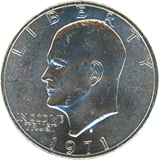1971 S Eisenhower Ike Silver Dollar $1 BU