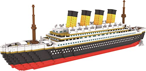 lowest Larcele 3800 Pieces World Famous Building Blocks Bricks Set Mini Construction Toy Set for Children new arrival and Adults high quality KLJM-03 (Big Cruise Ship) online