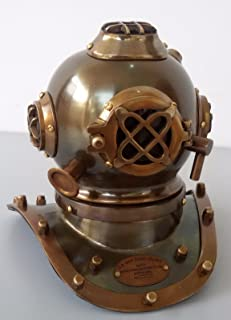 Replica Warehouse New Commercial Diver Statue with Mark V Hard Hat Helmet