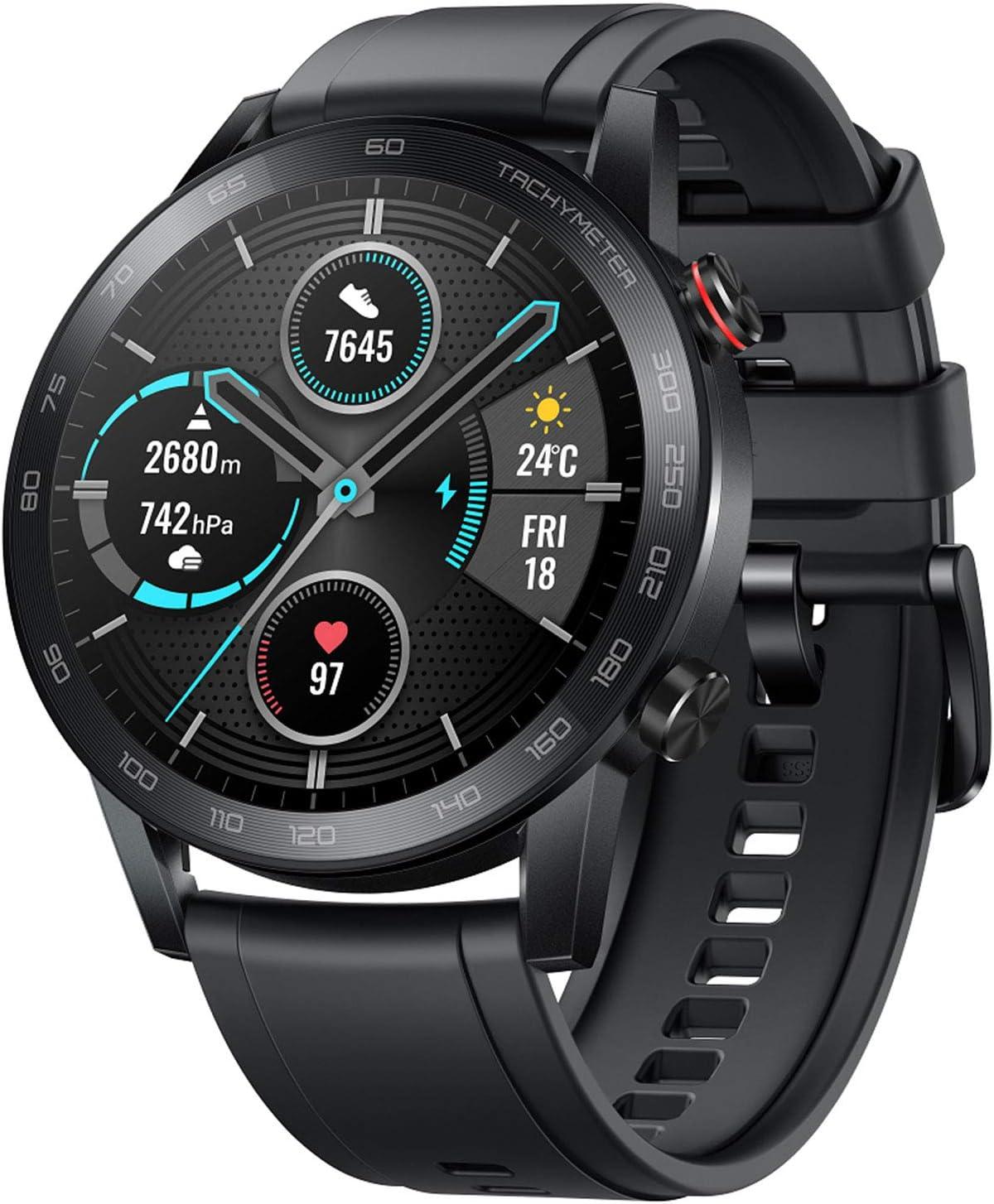 HONOR Smartwatch Magic Watch 2 46mm, 14 Giorni In Standby, con Cardiofrequenzimetro, Modalità Di Esercizio, GPS, Fitness Tracker Orologio, Nero
