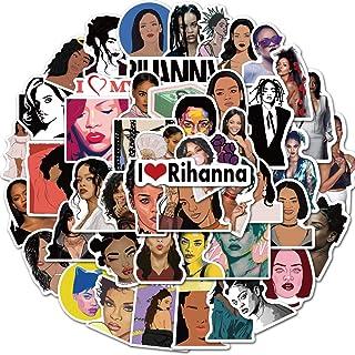 ملصقات VARWANEO Singer Rihanna من 50 ملصق من الفينيل للآلات المحمولة لأجهزة الكمبيوتر المحمولة وأجهزة الكمبيوتر والقوارير ...