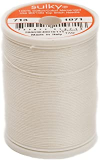 Sulky Of America 660d 12wt 2-Ply Cotton Thread, 330 yd, Off White