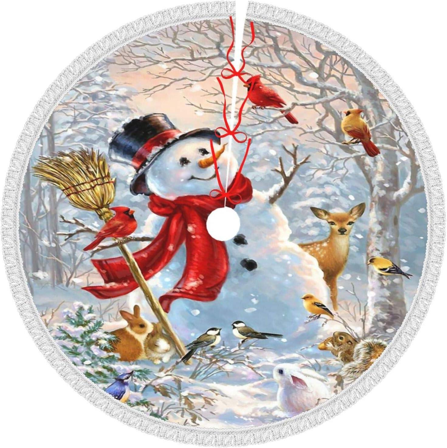 Mount Hour Columbus Mall Christmas Tree Skirt Gifts F Snowman Winter Snow