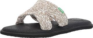 Sanuk Women's Yoga Mat Capri Knit Sandal, Natural Multi, 07 M US