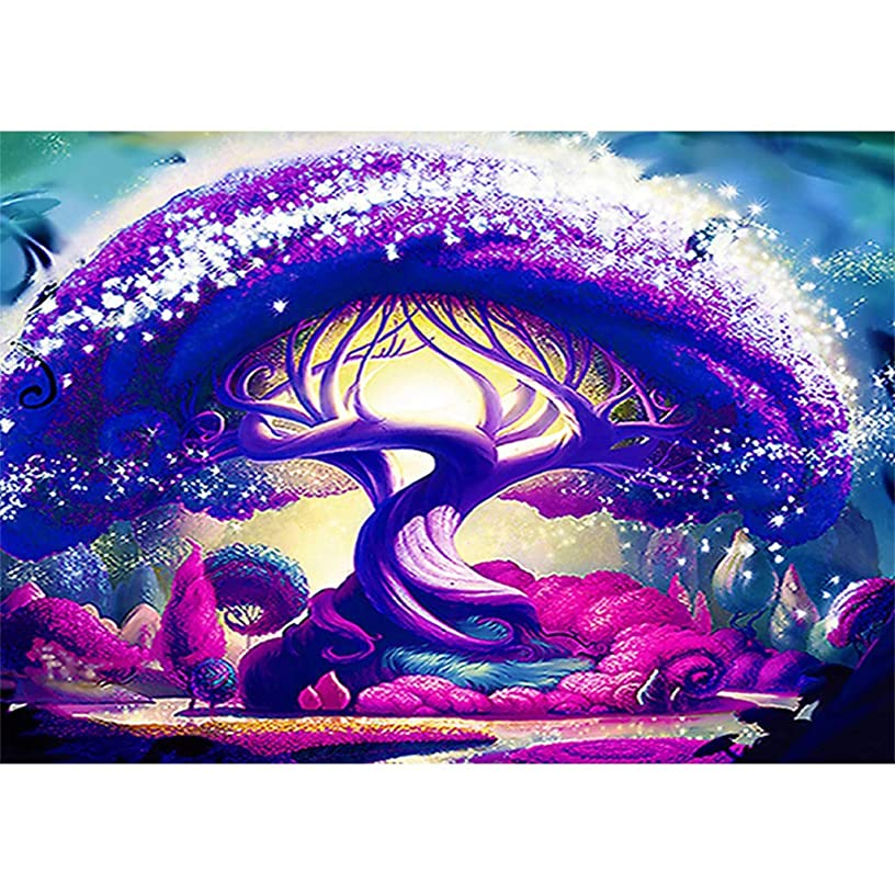 DIY 5D Full Diamond Painting Kit Diamond Art Kits for Adults Paint with Diamonds Kits Diamonds Embroidery by Numbers Tree (11.8X15.7inch)