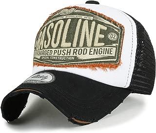 ililily Howels Distressed Vintage Cotton Baseball Mesh Cap Snapback Big Trucker Hat