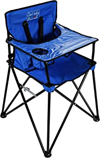 ciao! baby Portable High Chair for Babies and Toddlers, Fold Up Outdoor Travel Seat with Tray and Carry Bag for Camping, P...