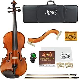 Forzati FZV600 4/4 Full Size Violin Set, Superior Handcrafted Violins, Adult Violin, Hand-Varnished, Bows, String Set, Ebo...