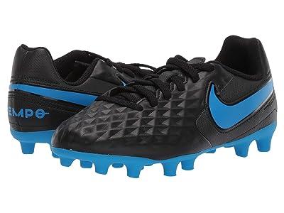 Nike Kids Jr Legend 8 Club FG/MG Soccer (Toddler/Little Kid/Big Kid) (Black/Blue Hero) Kids Shoes
