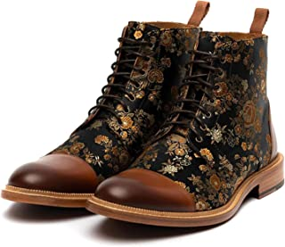 ZS ZHISHANG The Jack Boot in Eden Front Lace-Up Men Ankle Boots Retro Style Fashion Shoes