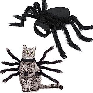 لباس عنکبوتی هالووین برای گربه سگ ، تزیینات هالووین حیوان خانگی هالووین ، تدارکات مهمانی هالووین برای تزیین عنکبوت ، لباس اسپایدر کاسپلی با ولکرو قابل تنظیم برای سگها و گربه های کوچک متوسط