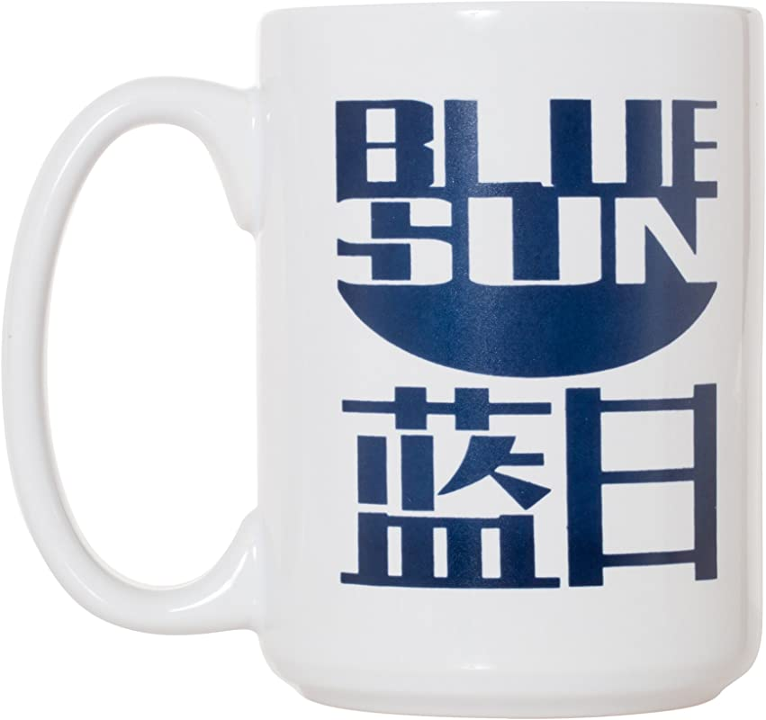 Blue Sun Coffee Mug 15oz Deluxe Double Sided Coffee Tea Mug