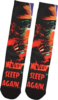 Nightmare On Elm Street Freddy Krueger Never Sleep Again Sublimated Crew Socks