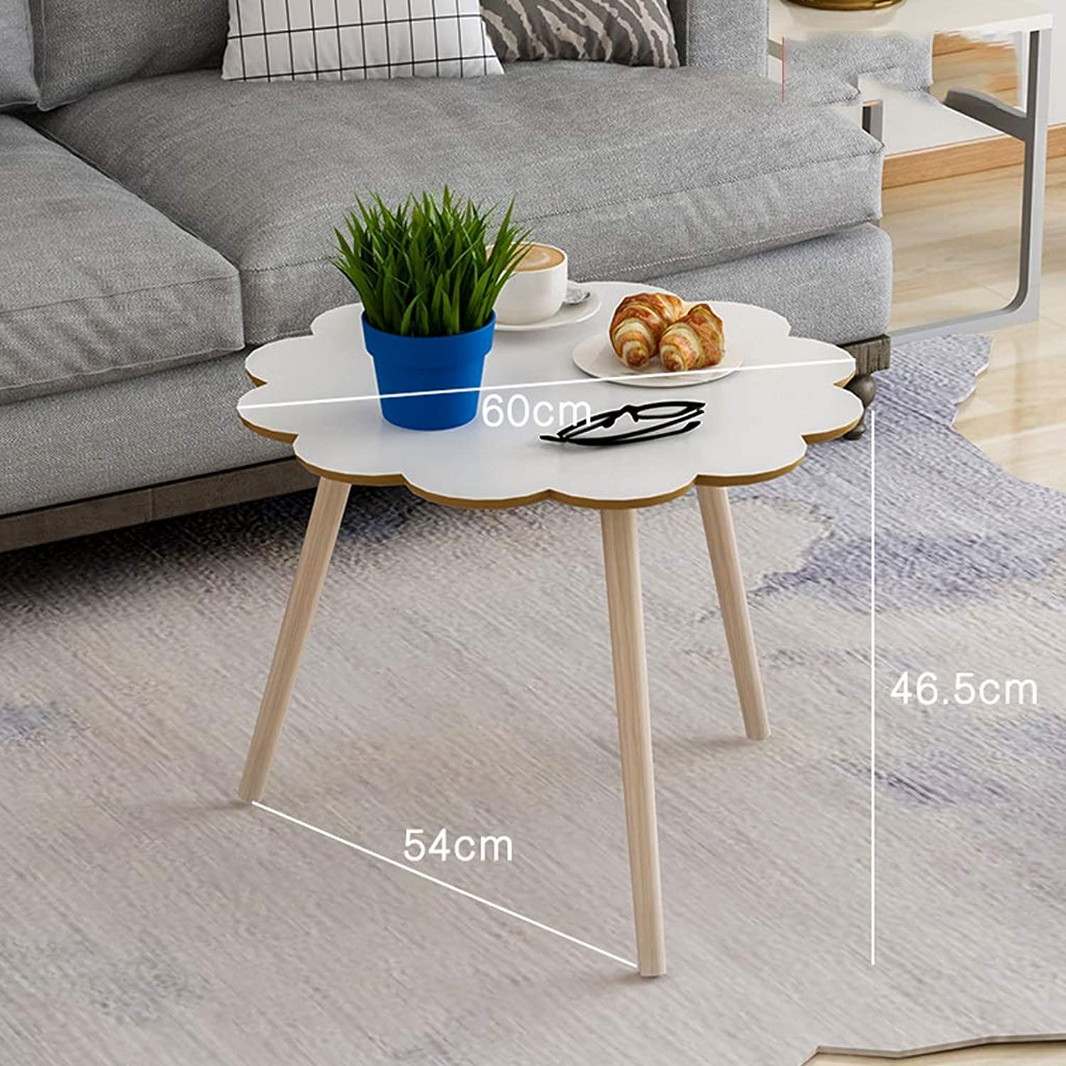 Small Coffee Table Bedside Table Wooden Small Table Sofa Side Table Creative Corners Table (color   Wood)