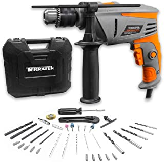 Sponsored Ad – Terratek 35pcs 810W Hammer Drill Power Impact Drill Heavy Duty Variable Speed 1/2-Inch(13 mm) Keyed Chuck