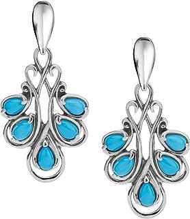 Carolyn Pollack Sterling Silver Sleeping Beauty Turquoise Drop Earrings