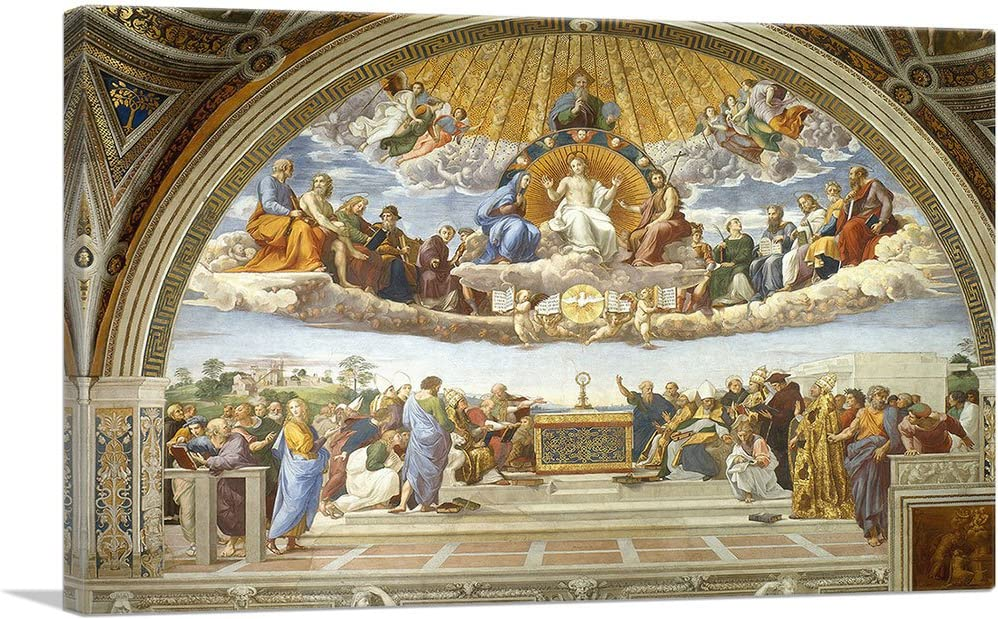 Ranking Year-end gift TOP17 ARTCANVAS Disputation of The Holy Prin Sacrament Art Canvas 1510