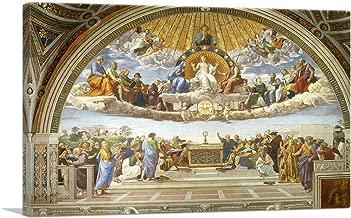 ARTCANVAS Disputation of The Holy Sacrament 1510 Canvas Art Print by Raphael - 26