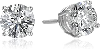 IGI Certified 18k Gold Lab Created Diamond Stud Earrings (1/2 - 4 cttw, G-H Color, VS1-VS2 Clarity)