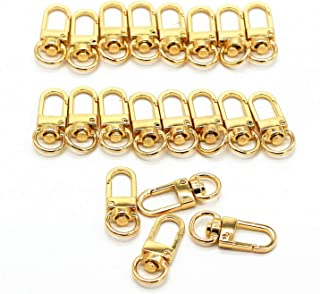 M-W 20PCS Swivel Trigger Lobster Claw Clasps Handbag Chain Buckles Bag Belting Pets Dog Chain Connector (Light-Gold)