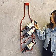 Modern metalen wijnrek Decoratief wijnrek Wijnfleshouder Opslag Wijnhouder - Wandmontage Restaurant Displayrek, creatieve ...
