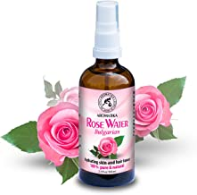 Rose Water 3.4oz - Rosa Damascena - Bulgarian - 100% Pure & Natural - Floral Water for All Skin Types - Body Care - Best Spray for Skin - Face - Glass Bottle - by Aromatika