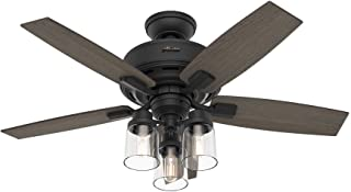 Hunter Bennett Indoor Ceiling Fan with LED Light and...