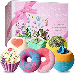 Explosion salt cake donuts chocolate cream cake luxury spa bath bomb gift sets for girls are prepared for luxury gifts Natural Quality (Size : 7*Mixed pack)