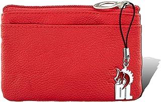D1OPR800R - Portafoglio in vera pelle, unisex, 8,5 x 12 x 1 cm, colore: Rosso
