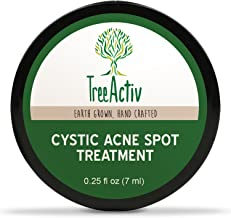 TreeActiv Cystic Acne Spot Treatment, Best Extra Strength Fast Acting Formula for Clearing Severe Acne from Face and Body,...